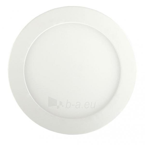 Šviestuvas ART LED on plaster panel, round, 12*3.5cm, 6W, WW 3000K Paveikslėlis 1 iš 8 310820049414
