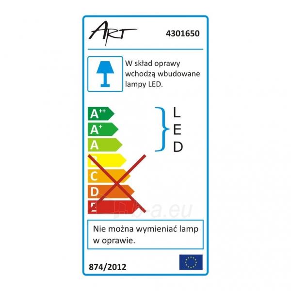 Šviestuvas ART LED on plaster panel, round, 12*3.5cm, 6W, WW 3000K Paveikslėlis 7 iš 8 310820049414