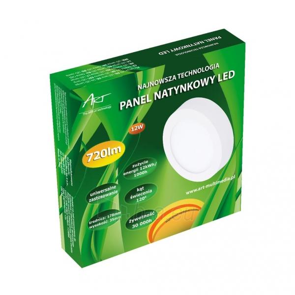 Šviestuvas ART LED on plaster panel, round, 18*3.5cm, 12W, W 4000K Paveikslėlis 4 iš 8 310820049419