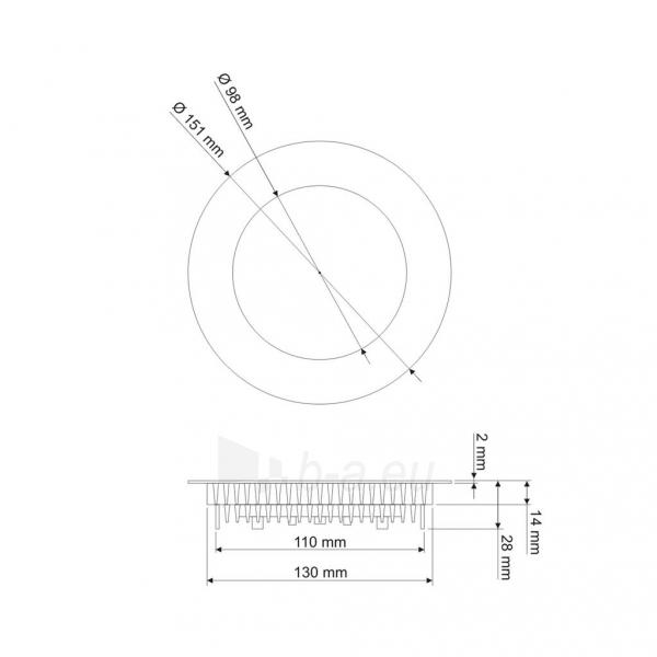 Šviestuvas ART LED on plaster panel, round, 18*3.5cm, 12W, W 4000K Paveikslėlis 5 iš 8 310820049419