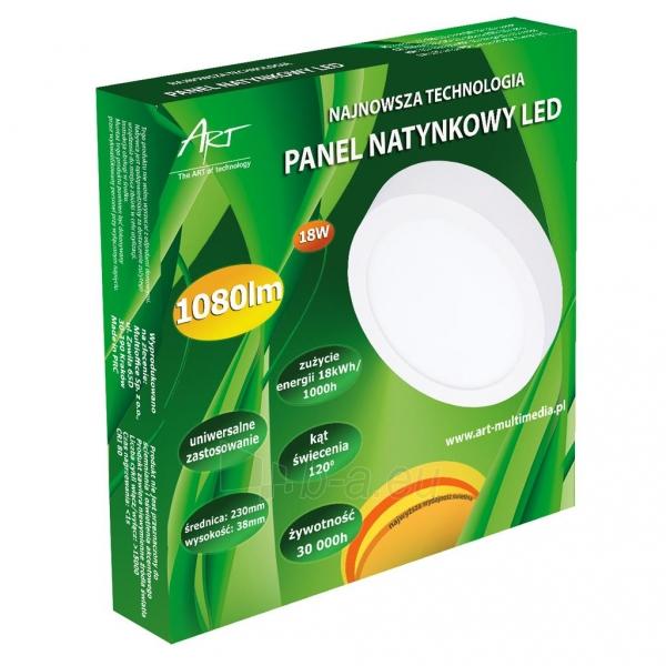 Šviestuvas ART LED on plaster panel, round, 24*3.5cm, 18W, W 4000K Paveikslėlis 5 iš 8 310820049420