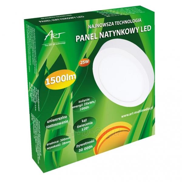 Šviestuvas ART LED on plaster panel, round, 30*4cm, 25W, WW 3000K Paveikslėlis 5 iš 8 310820049405