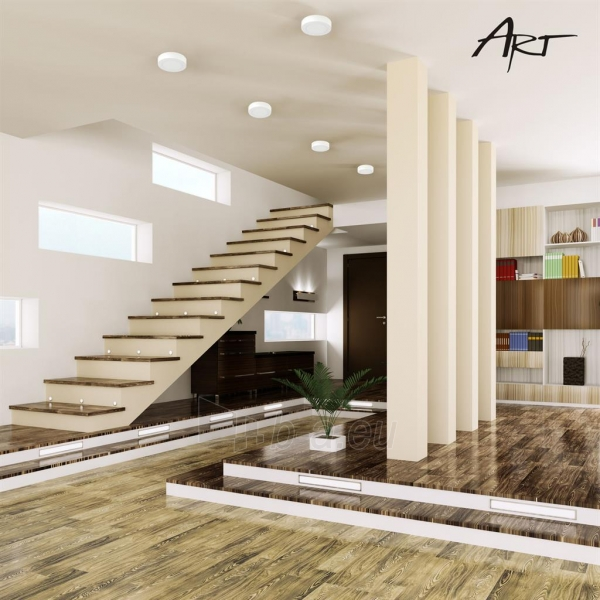 Šviestuvas ART LED on plaster panel, round, 30*4cm, 25W, WW 3000K Paveikslėlis 8 iš 8 310820049405