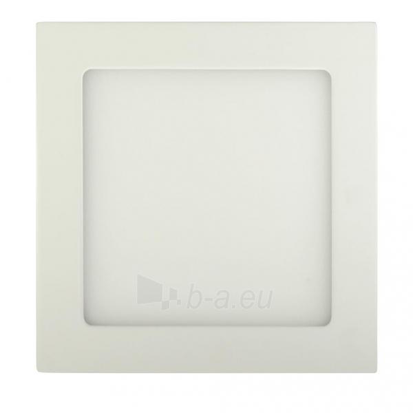 Šviestuvas ART LED on plaster panel, square, 12*3.5cm, 6W, WW 3000K Paveikslėlis 1 iš 7 310820049416