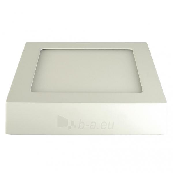 Šviestuvas ART LED on plaster panel, square, 12*3.5cm, 6W, WW 3000K Paveikslėlis 2 iš 7 310820049416