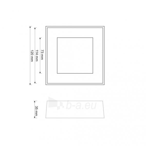 Šviestuvas ART LED on plaster panel, square, 12*3.5cm, 6W, WW 3000K Paveikslėlis 4 iš 7 310820049416