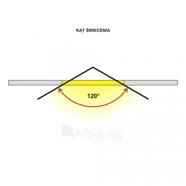 Šviestuvas ART LED on plaster panel, square, 12*3.5cm, 6W, WW 3000K Paveikslėlis 6 iš 7 310820049416