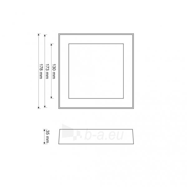 Šviestuvas ART LED on plaster panel, square, 18*3.5cm, 12W, W 4000K Paveikslėlis 4 iš 7 310820049417