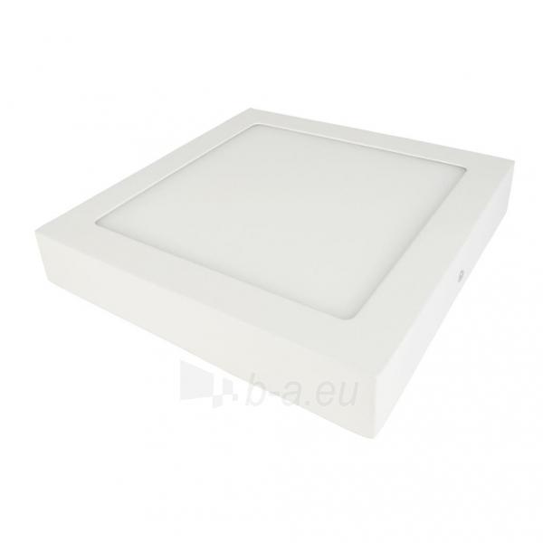Šviestuvas ART LED on plaster panel, square, 24*3.5cm, 18W, W 4000K Paveikslėlis 2 iš 7 310820049418