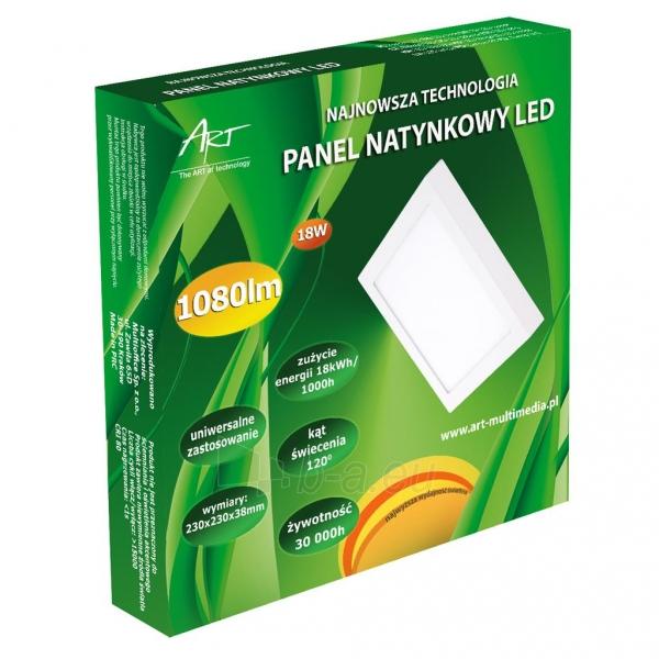 Šviestuvas ART LED on plaster panel, square, 24*3.5cm, 18W, WW 3000K Paveikslėlis 5 iš 7 310820049404