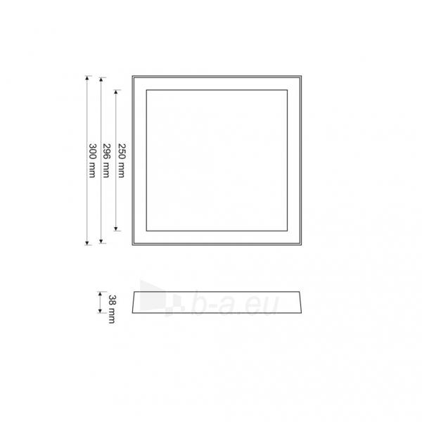 Šviestuvas ART LED on plaster panel, square, 30*4cm, 25W, WW 3000K Paveikslėlis 4 iš 7 310820049408