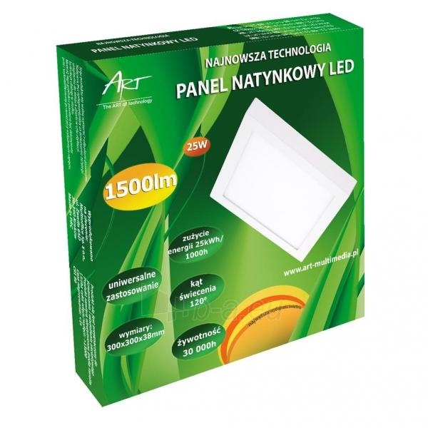 Šviestuvas ART LED on plaster panel, square, 30*4cm, 25W, WW 3000K Paveikslėlis 5 iš 7 310820049408