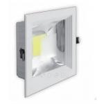 Šviestuvas LED, 20W, įleidžiamas, kvadratinis, baltas, su skaidriu stiklu, 190x190x60, COB, 4500K, 1800lm, GTV LD-COB20K-40 Paveikslėlis 1 iš 1 2241170000118
