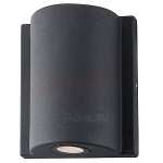 Šviestuvas sodo LED, 6W, 4000K, IP54, AC 230V, 170lm, tvirt. prie sienos, dviejų krypčių, juodas, LAMPRIX LP-14-013 Paveikslėlis 1 iš 1 310820055134