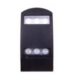 Šviestuvas sodo LED, 8W, 3000K, IP54, AC 230V, 350lm, tvirt. prie sienos, juodas, su stiklu, LAMPRIX LP-14-003 Paveikslėlis 1 iš 2 310820055212