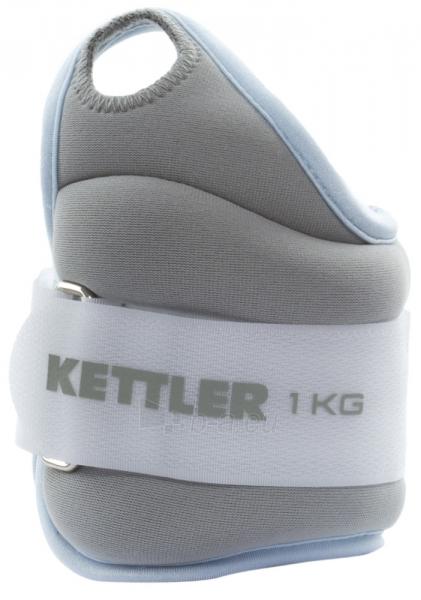 Svoriai rankoms Kettler 2x1,0kg, blue/grey Paveikslėlis 1 iš 1 310820040331
