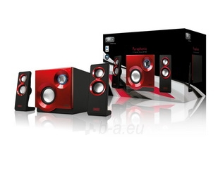 Sweex kolonėlių rinkinys 2.1 60W Purephonic Red Paveikslėlis 1 iš 4 310820037257