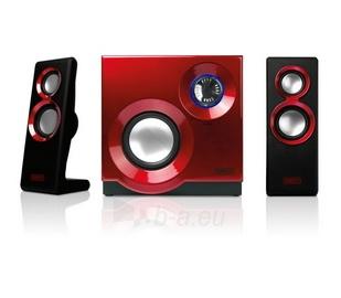 Sweex kolonėlių rinkinys 2.1 60W Purephonic Red Paveikslėlis 2 iš 4 310820037257