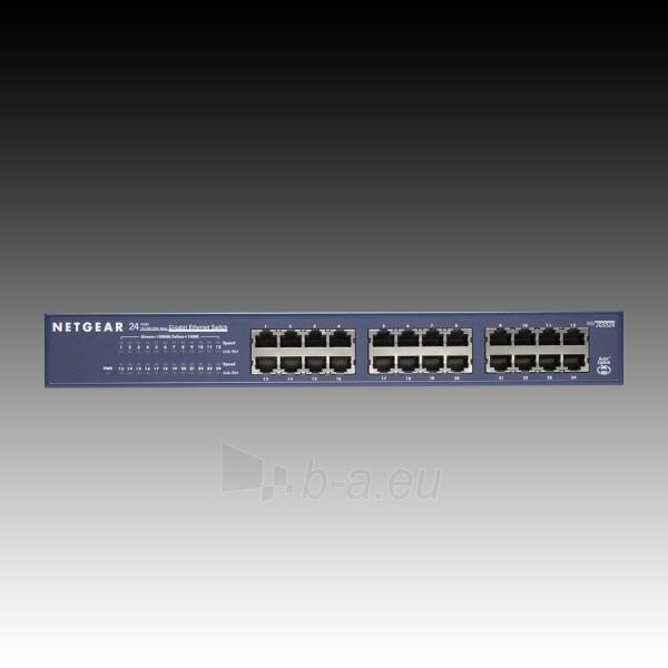 Switch NETGEAR 24 x 10/100/1000 Ethernet Switch Rack-mountable Paveikslėlis 3 iš 4 250257600924