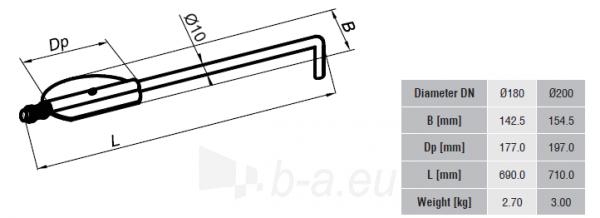 SZK sklendė SET 180-CZ2(ML) ilg. Rankenėlė Paveikslėlis 2 iš 2 310820161545