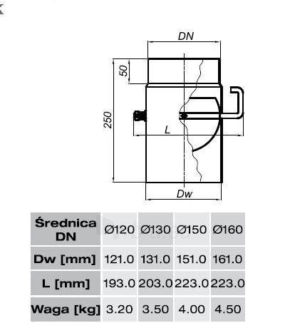 SZK sklende vamzdyje 150-CZ2(ML) trump. rankenėlė (shirt handle) Paveikslėlis 2 iš 2 310820161536