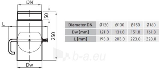 SZK sklende vamzdyje 150 pilka(ML) trump. rankenėlė (shirt handle) Paveikslėlis 2 iš 2 310820161538