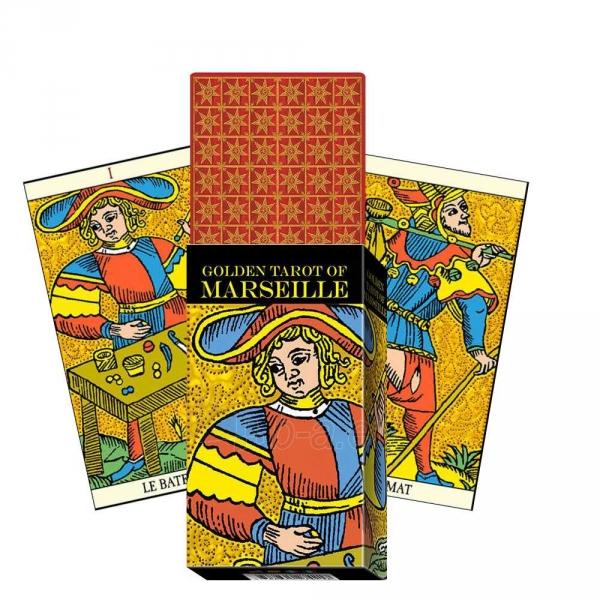 Taro Kortos Golden Tarot of Marseille Paveikslėlis 2 iš 7 310820145310