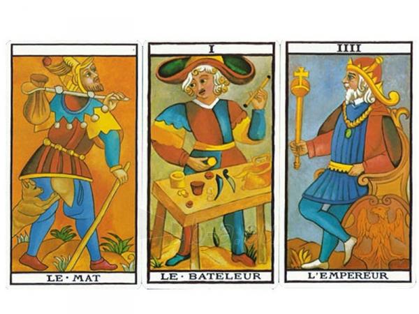 Taro kortos Le Tarot de Marseilles Paveikslėlis 5 iš 8 251010000280
