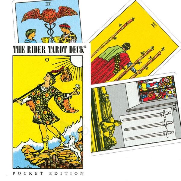 Taro kortos Pocket Rider-Waite Paveikslėlis 6 iš 9 310820103856