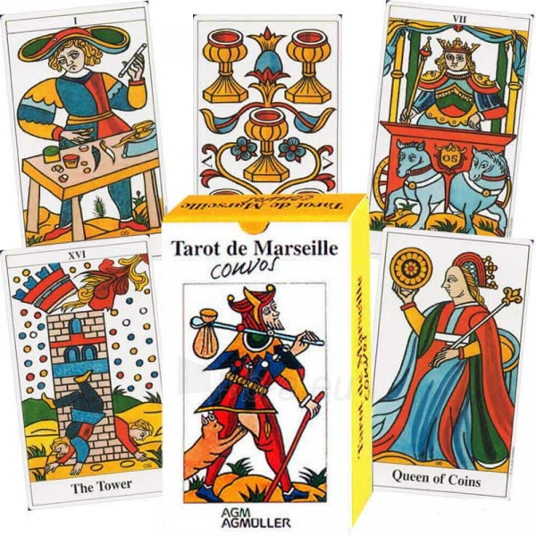 Taro Kortos Tarot de Marseille Convos Paveikslėlis 8 iš 9 310820142657