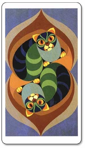Taro kortos Tarot Of The Cats Paveikslėlis 6 iš 8 310820104017