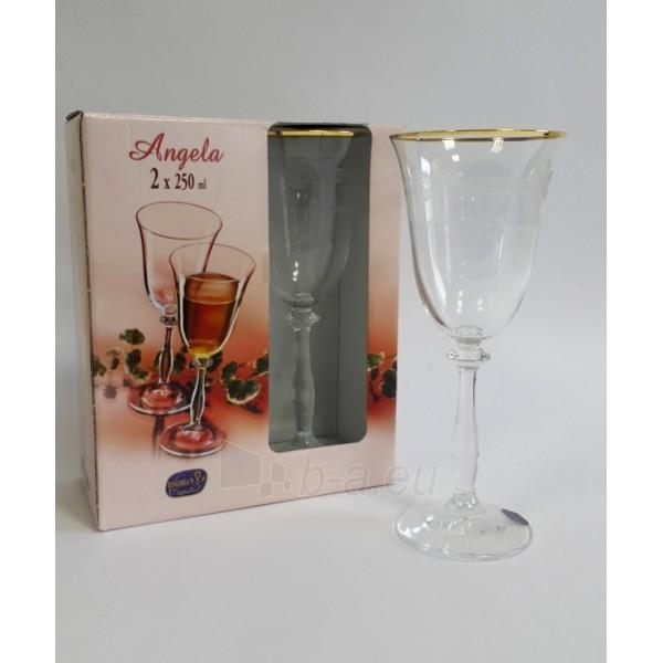 Taurės vynui su dek.250ml Angela 2 vnt. Paveikslėlis 1 iš 1 310820061541