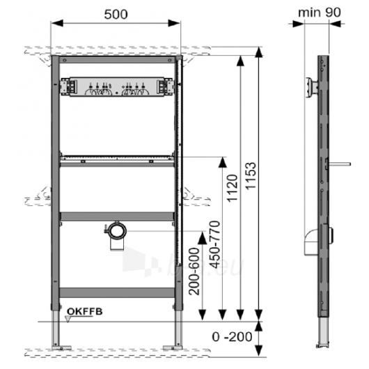 Tece pisuaro modulis, 112cm, nuleidimo vožt. išorėje Paveikslėlis 1 iš 2 270790200198