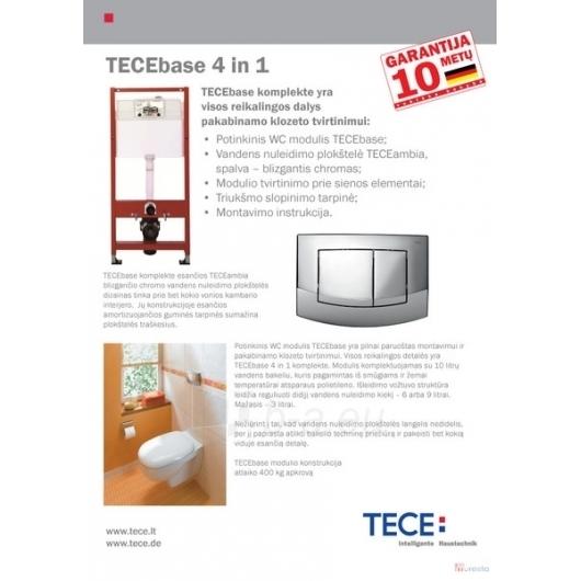 TECE potinkinis WC rėmas 4in1 9.400.005 Paveikslėlis 2 iš 3 270740000045
