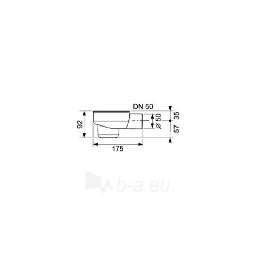 Tece standartinis drainline sifonas DN50 Paveikslėlis 1 iš 2 270530000213
