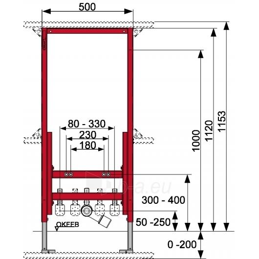 Tece universalus bidė modulis, 112cm Paveikslėlis 1 iš 2 270740000042