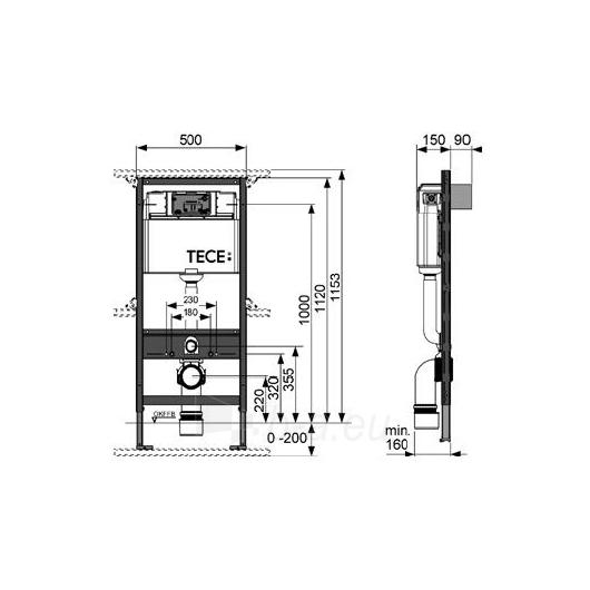 Tece universalus wc modulis, 112cm Paveikslėlis 2 iš 2 270740000038