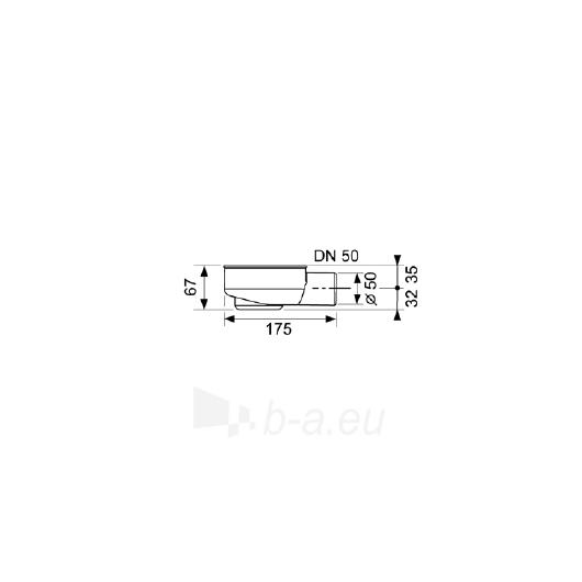 Tece žemas drainline sifonas DN50 Paveikslėlis 2 iš 2 270530000215