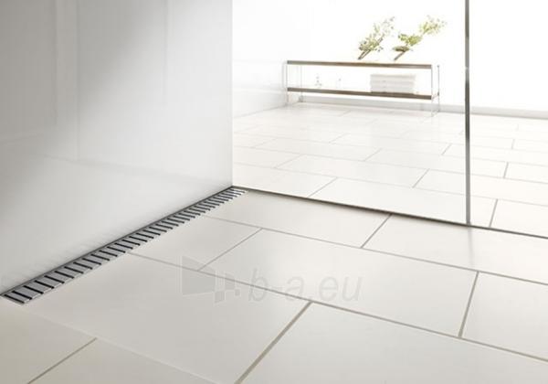 TECElinus dušo latako komplektas 4 in 1 su mat. plieno Straight grotelėmis, 900mm Paveikslėlis 3 iš 3 310820165779