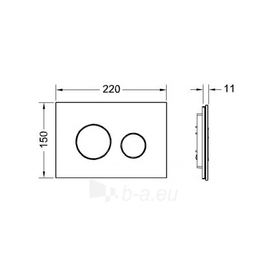 TECEloop stiklinis nuleidimo mygtukas, juodi mygtukai Paveikslėlis 1 iš 2 270790200123