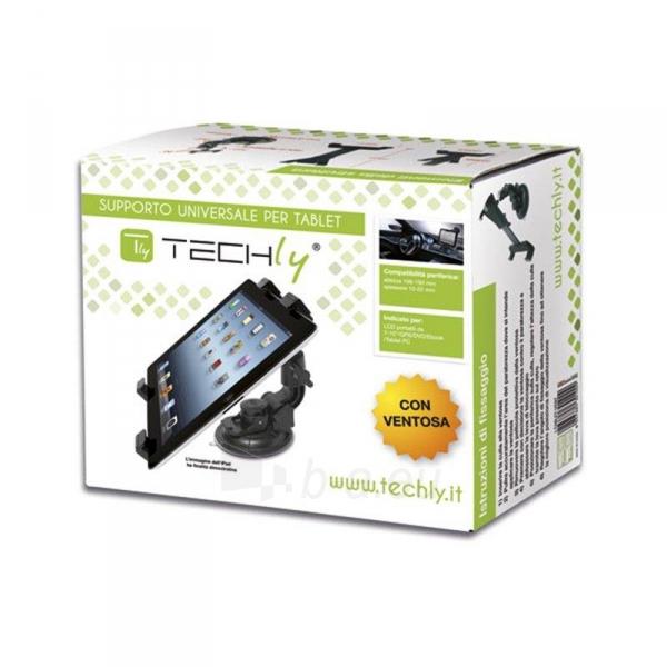 Techly Automob. laikiklis (prie stiklo) skirtas planš. komp./iPad 7-10.1 Juod. Paveikslėlis 2 iš 3 2502560202207