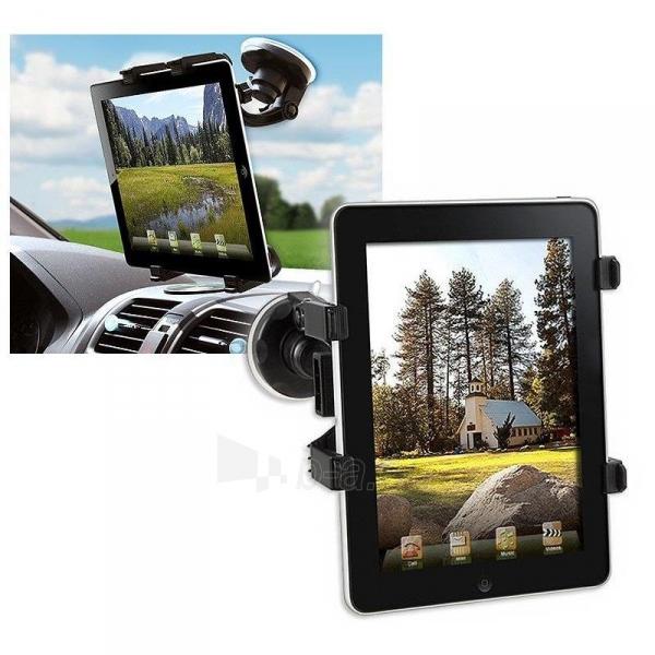 Techly Automob. laikiklis (prie stiklo) skirtas planš. komp./iPad 7-10.1 Juod. Paveikslėlis 3 iš 3 2502560202207