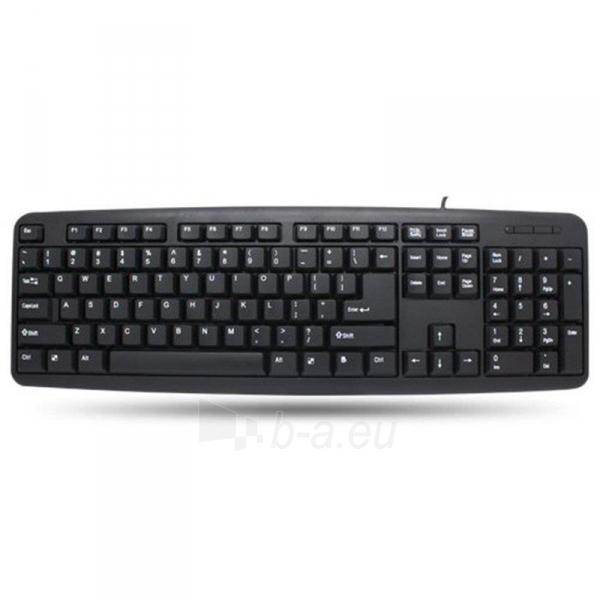 Techly Klaviatūra USB 104 mygrukai, US, juoda Paveikslėlis 2 iš 4 250255701318