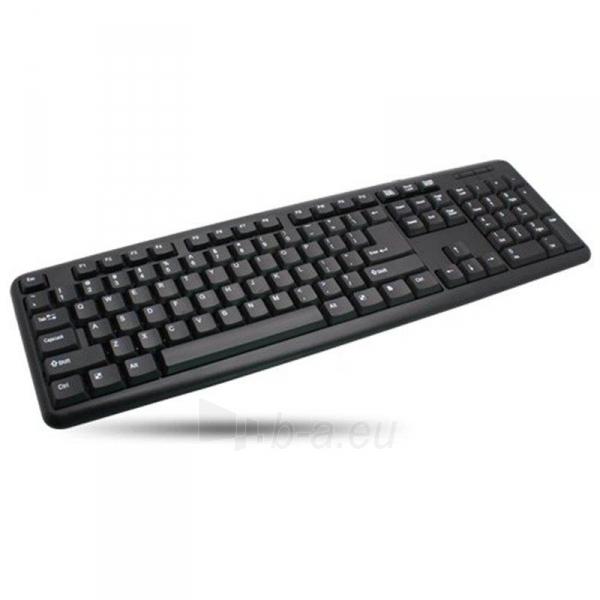 Techly Klaviatūra USB 104 mygrukai, US, juoda Paveikslėlis 3 iš 4 250255701318