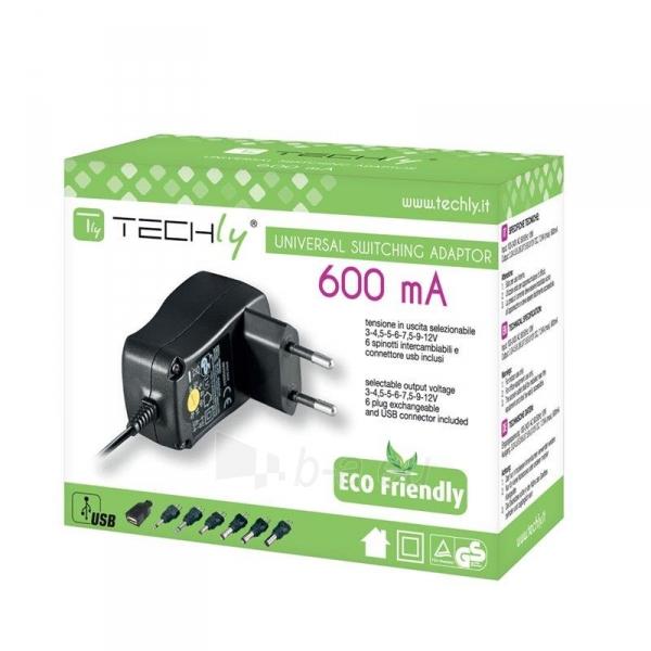 Techly universalus pakrovėjas 3-12V 0.6A 7.2W su 7 kištukais Paveikslėlis 2 iš 2 310820015713