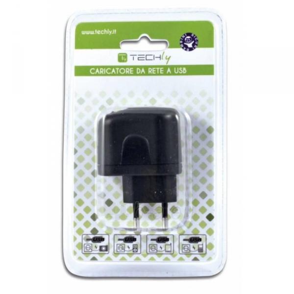Techly USB įkroviklis 5V 2.1A, du USB prievadai, juodas Paveikslėlis 2 iš 2 250256401243