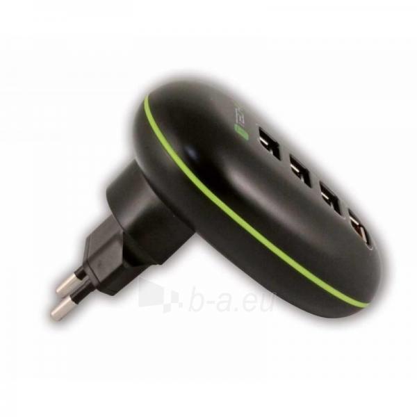 Techly USB įkroviklis 5V 2.5A, 4 USB prievadai, juodas Paveikslėlis 2 iš 4 250256401245
