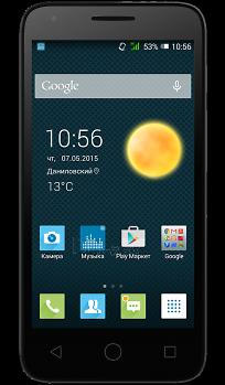 Mobile phone Alcatel One Touch 4027D Pixi 3 (4.5) Dual Sim black EU null Paveikslėlis 1 iš 1 310820002172