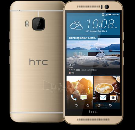 Mobile phone HTC One M9 4G NFC 32GB gold on silver DE null Paveikslėlis 1 iš 1 310820000440