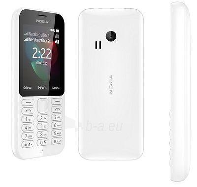 Telefonas Nokia 222 Dual Sim white DE Paveikslėlis 1 iš 1 310820000519